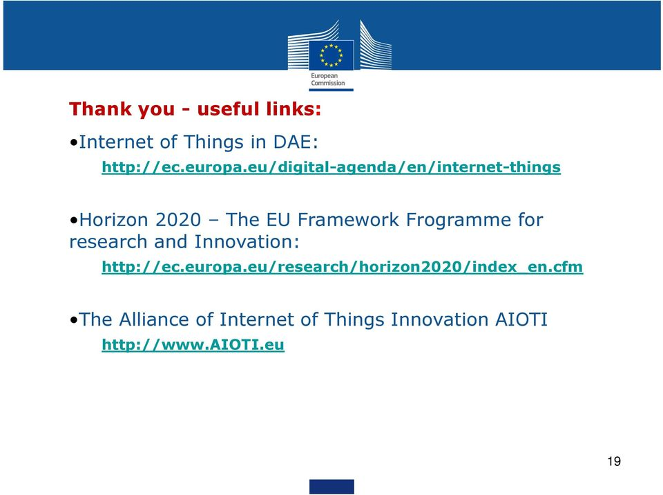 Frogramme for research and Innovation: http://ec.europa.