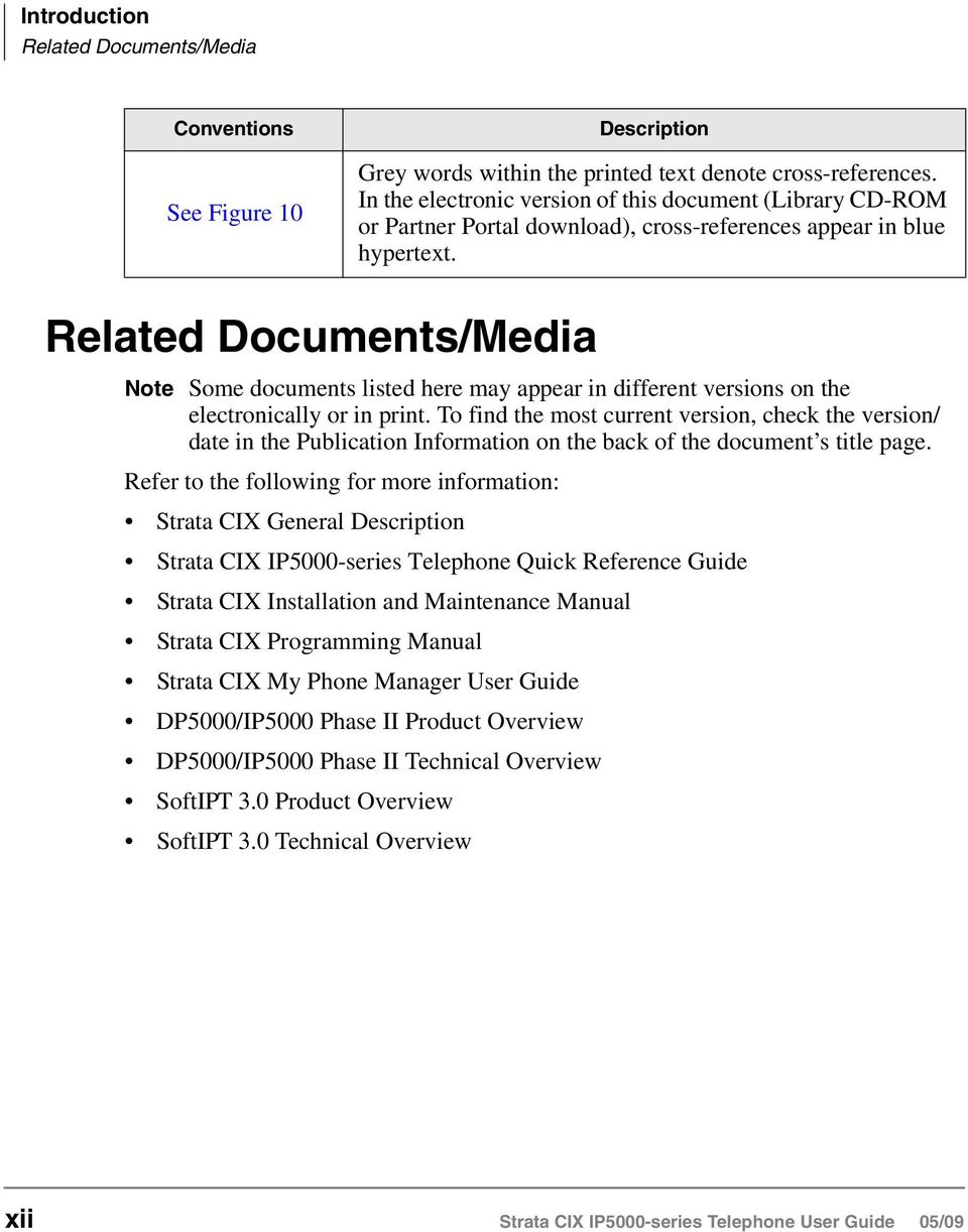 Related Documents/Media Note Some documents listed here may appear in different versions on the electronically or in print.