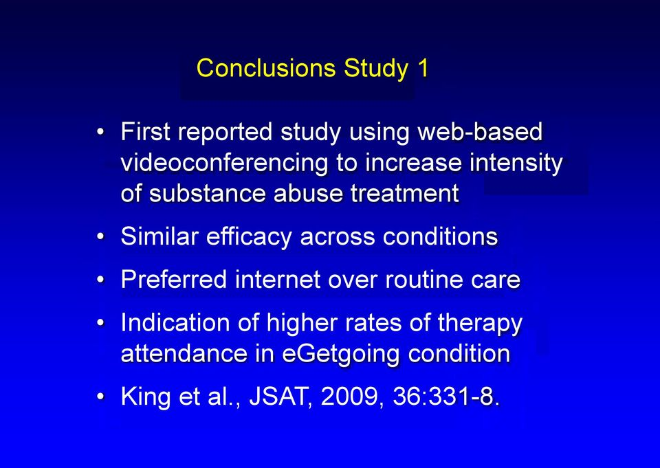 conditions Preferred internet over routine care Indication of higher rates