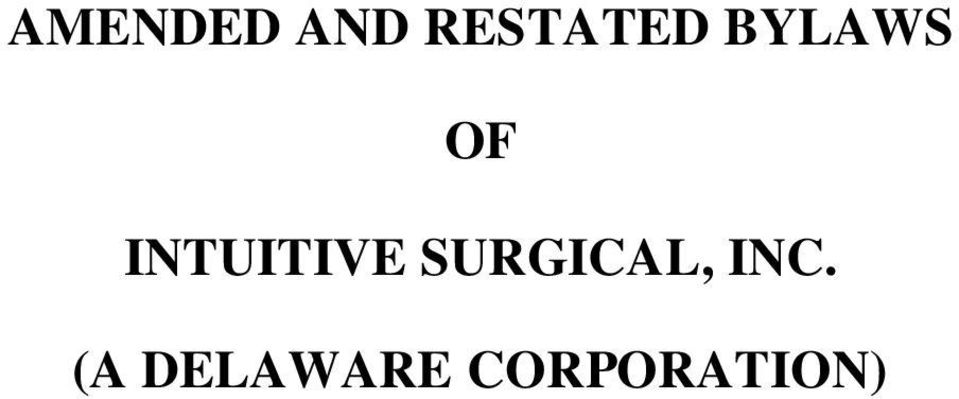 INTUITIVE SURGICAL,