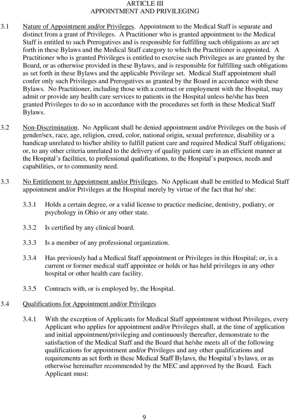 Staff category to which the Practitioner is appointed.