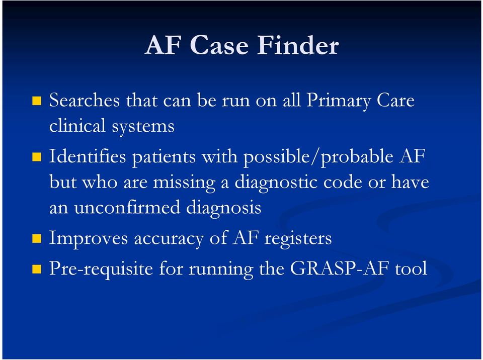 who are missing a diagnostic code or have an unconfirmed diagnosis