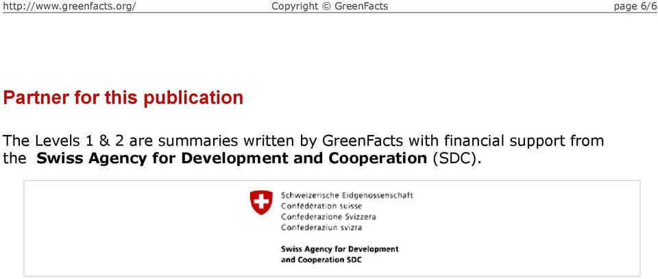 GreenFacts with financial support from the