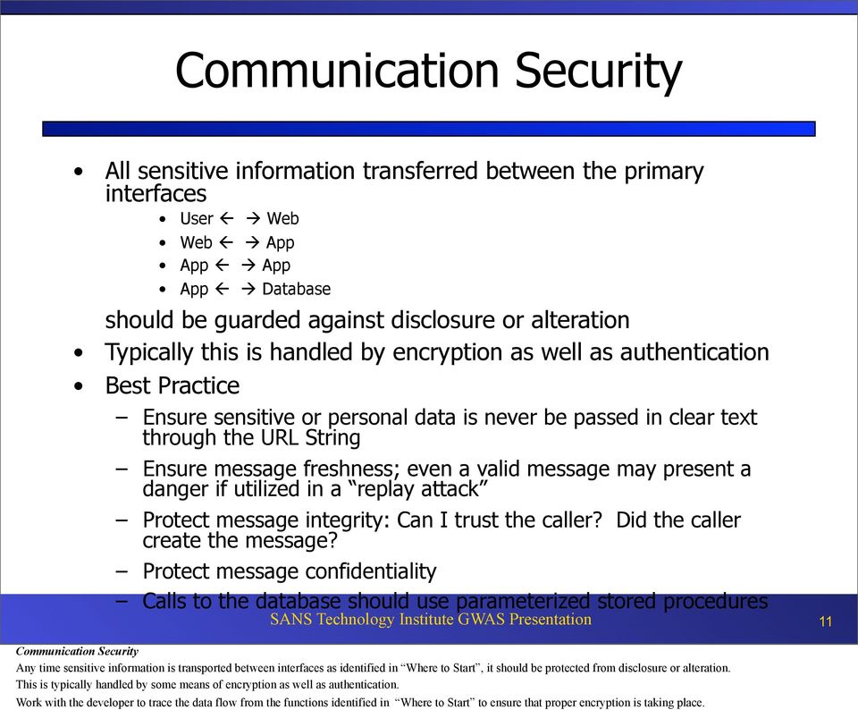 may present a danger if utilized in a replay attack Protect message integrity: Can I trust the caller? Did the caller create the message?