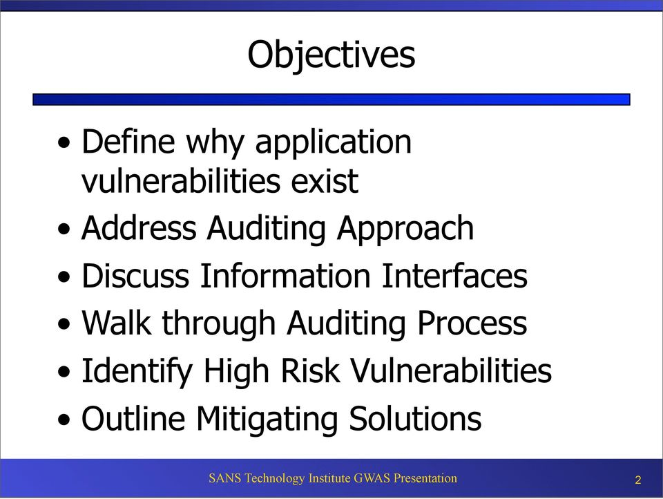 through Auditing Process Identify High Risk Vulnerabilities