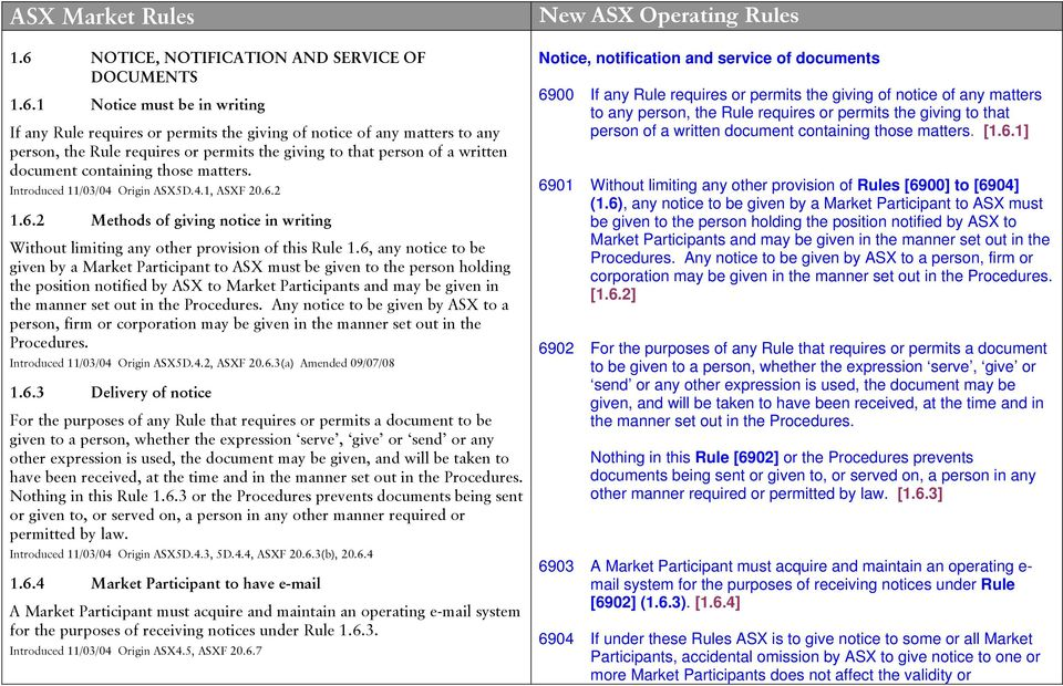 2 1.6.2 Methods of giving notice in writing Without limiting any other provision of this Rule 1.