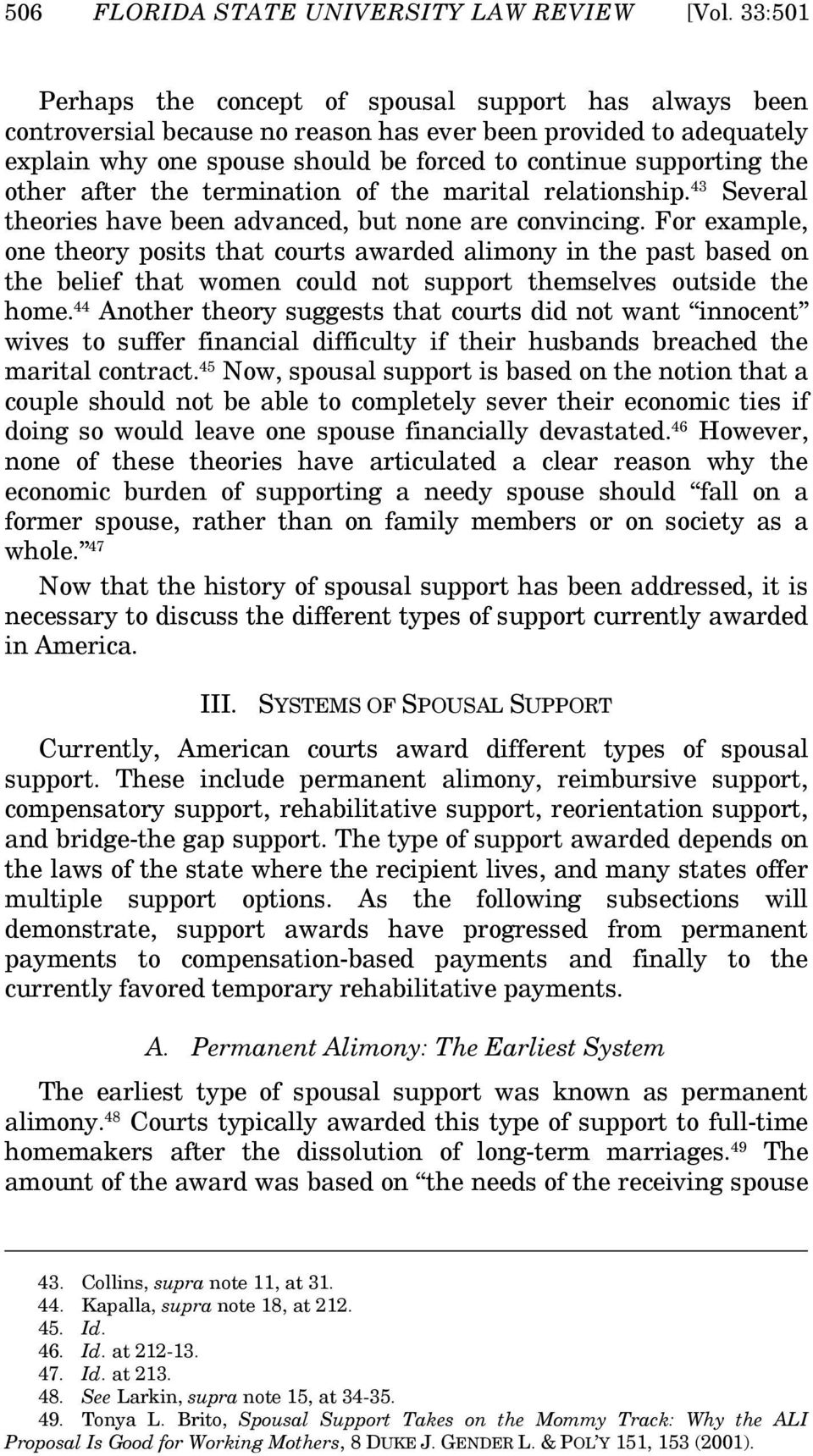 SPOUSAL SUPPORT DISORDER: AN OVERVIEW OF PROBLEMS IN CURRENT