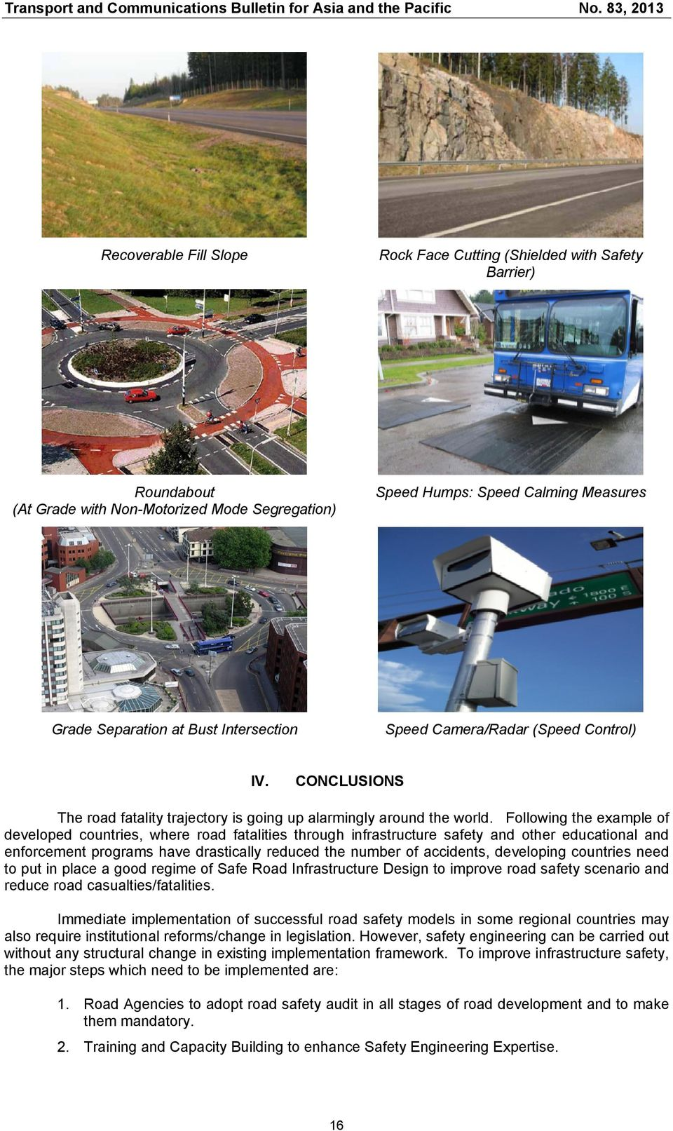 road safety audits and developing road