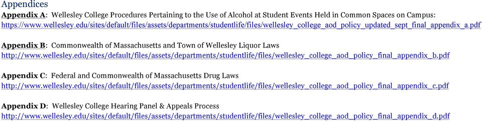 pdf Appendix B: Commonwealth of Massachusetts and Town of Wellesley Liquor Laws http://www.wellesley.