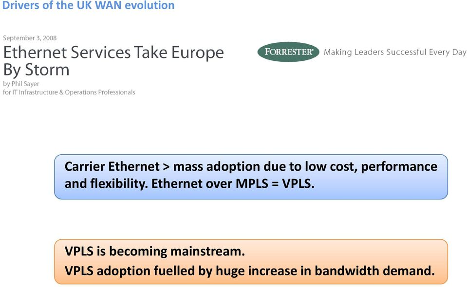 Ethernet over MPLS = VPLS. VPLS is becoming mainstream.