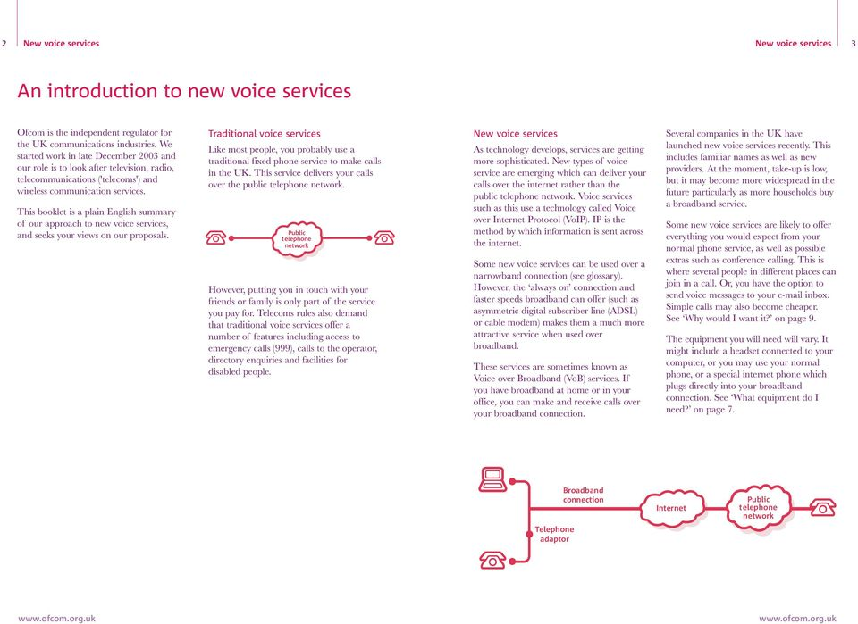 This booklet is a plain English summary of our approach to new voice services, and seeks your views on our proposals.