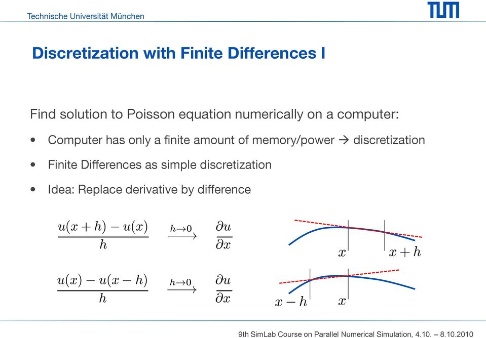 memory/power discretization Finite Differences as simple discretization