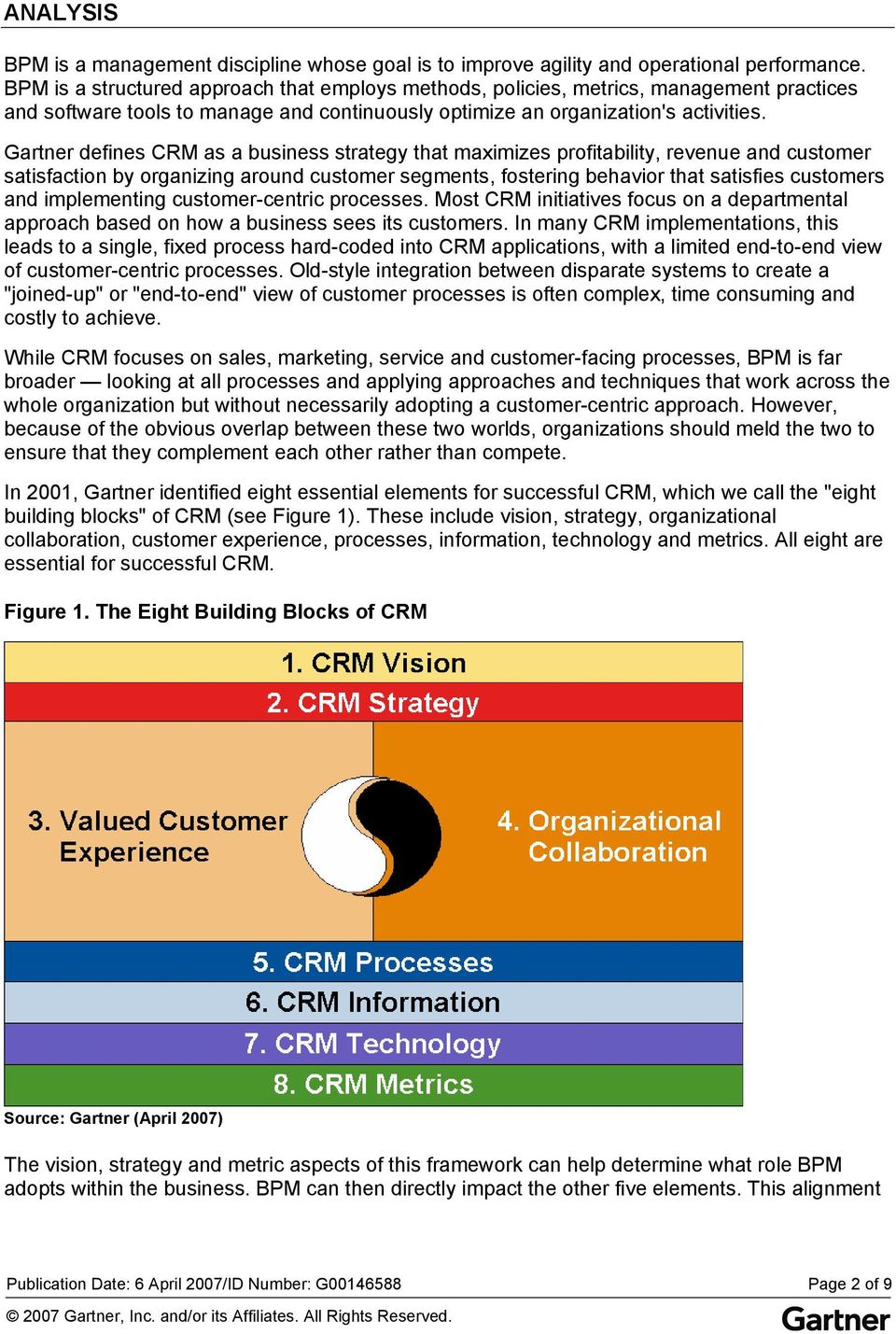 Gartner defines CRM as a business strategy that maximizes profitability, revenue and customer satisfaction by organizing around customer segments, fostering behavior that satisfies customers and