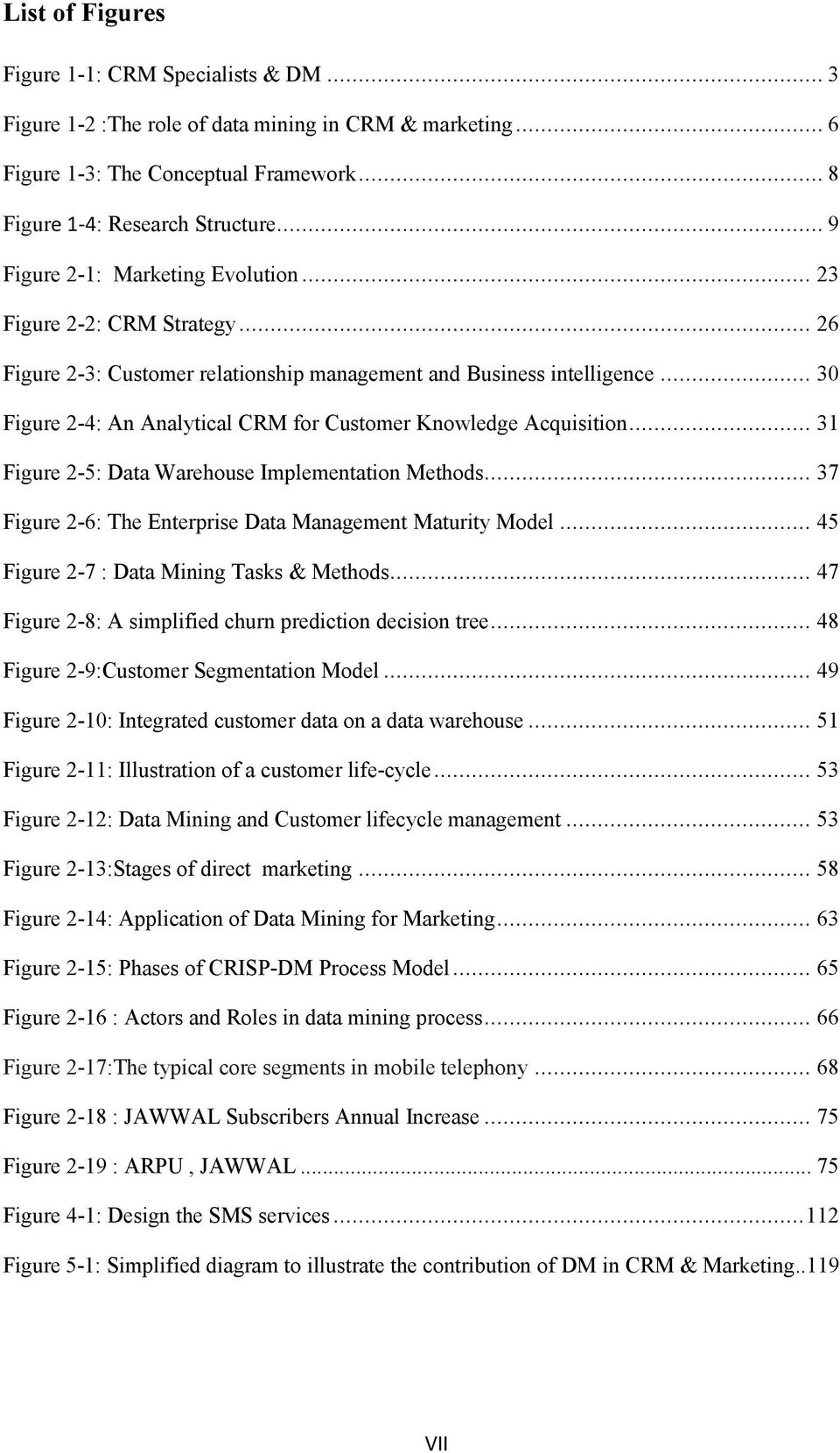 .. 30 Figure 2-4: An Analytical CRM for Customer Knowledge Acquisition... 31 Figure 2-5: Data Warehouse Implementation Methods... 37 Figure 2-6: The Enterprise Data Management Maturity Model.