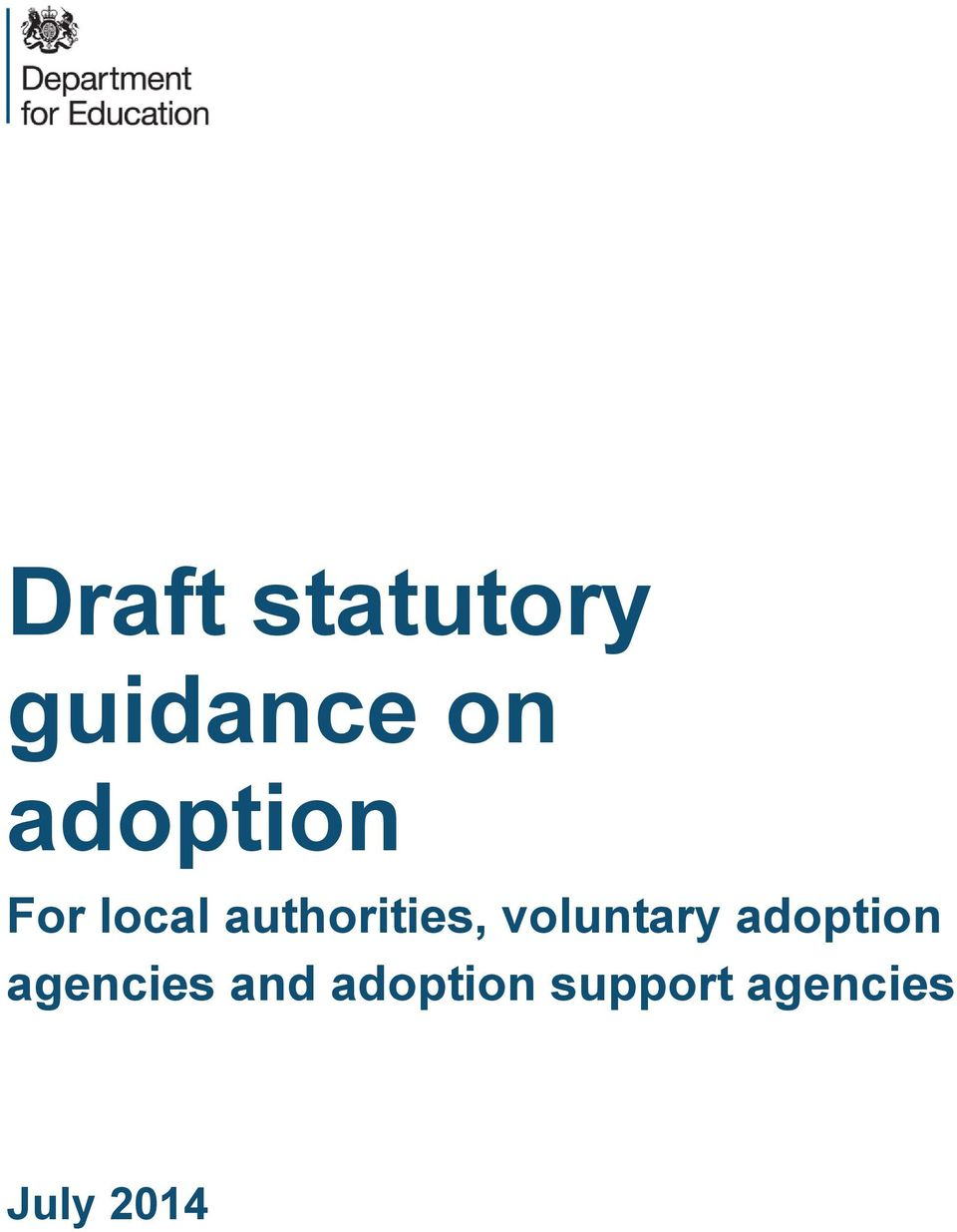 voluntary adoption agencies and