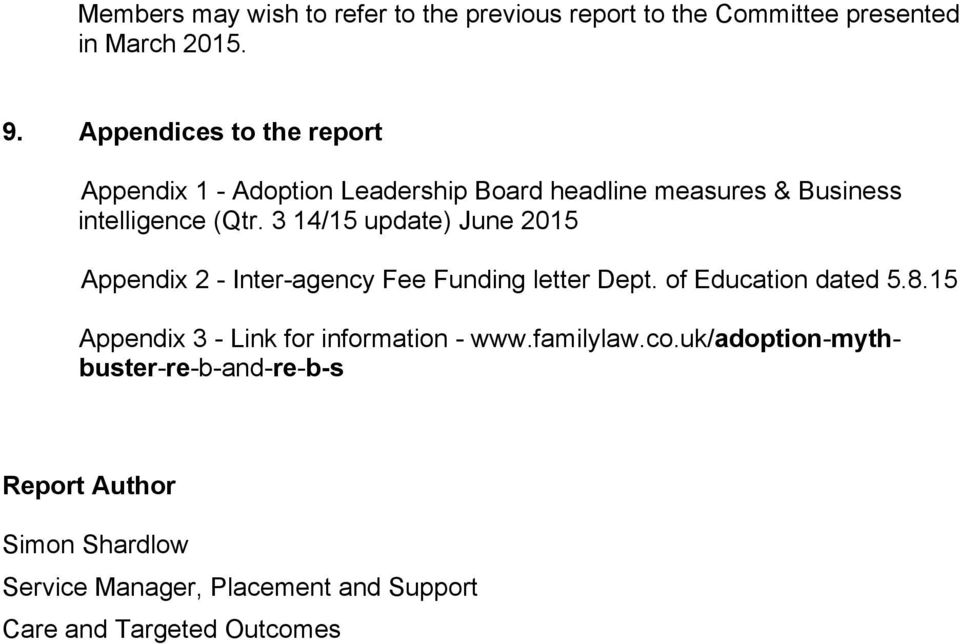 3 14/15 update) June 2015 Appendix 2 - Inter-agency Fee Funding letter Dept. of Education dated 5.8.