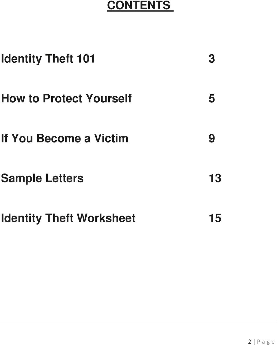 Become a Victim 9 Sample Letters