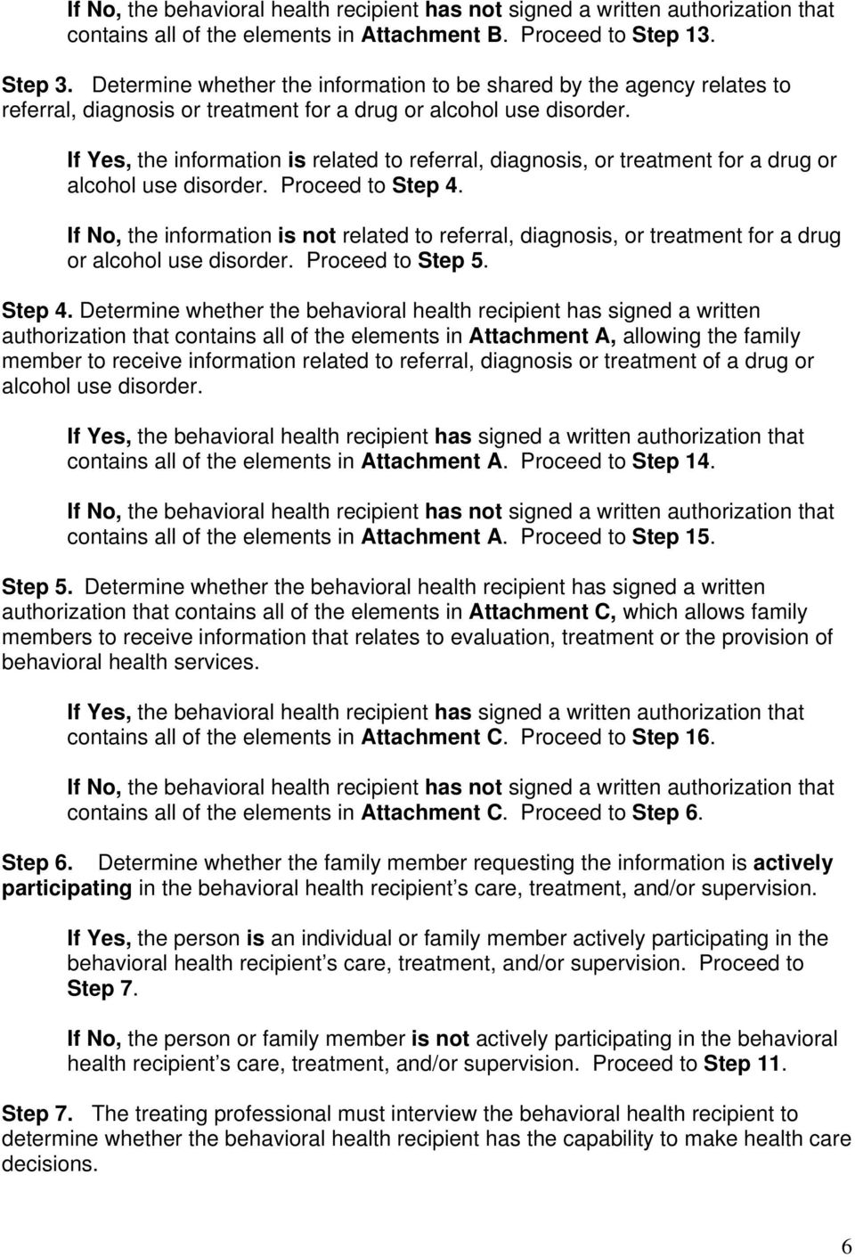If Yes, the information is related to referral, diagnosis, or treatment for a drug or alcohol use disorder. Proceed to Step 4.
