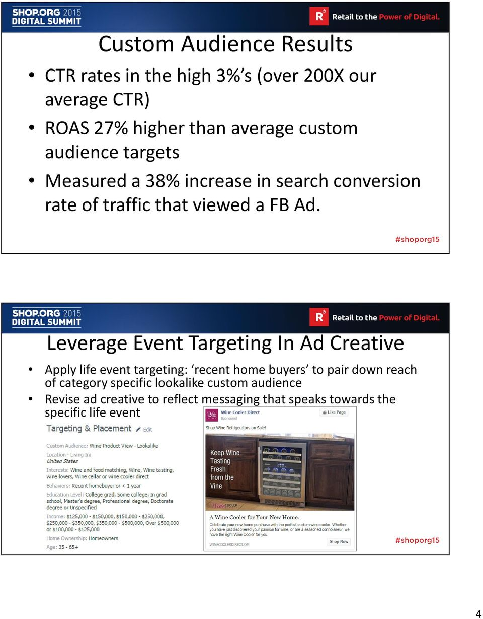 Leverage Event Targeting In Ad Creative Apply life event targeting: recent home buyers to pair down reach of