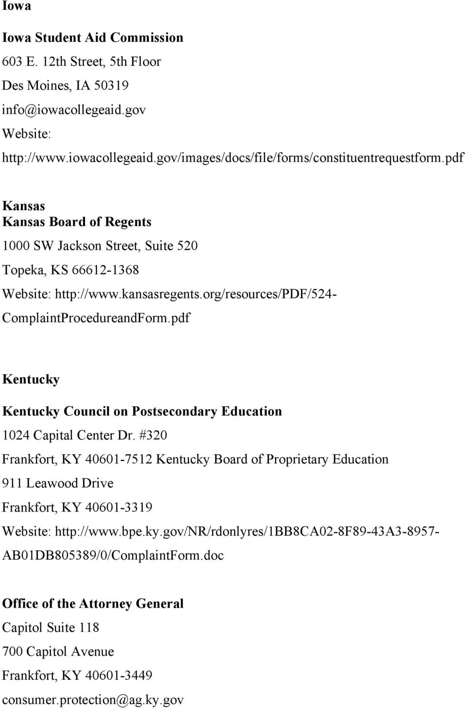 pdf Kentucky Kentucky Council on Postsecondary Education 1024 Capital Center Dr.