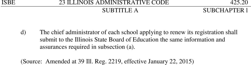 registration shall submit to the Illinois State Board of Education the same