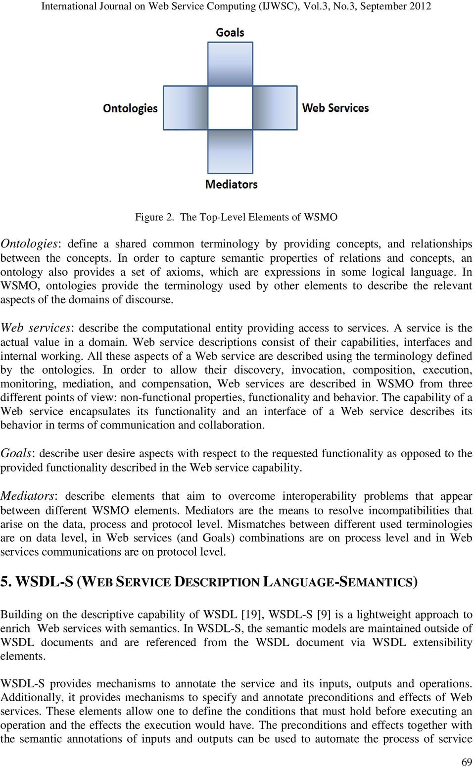 In WSMO, ontologies provide the terminology used by other elements to describe the relevant aspects of the domains of discourse.
