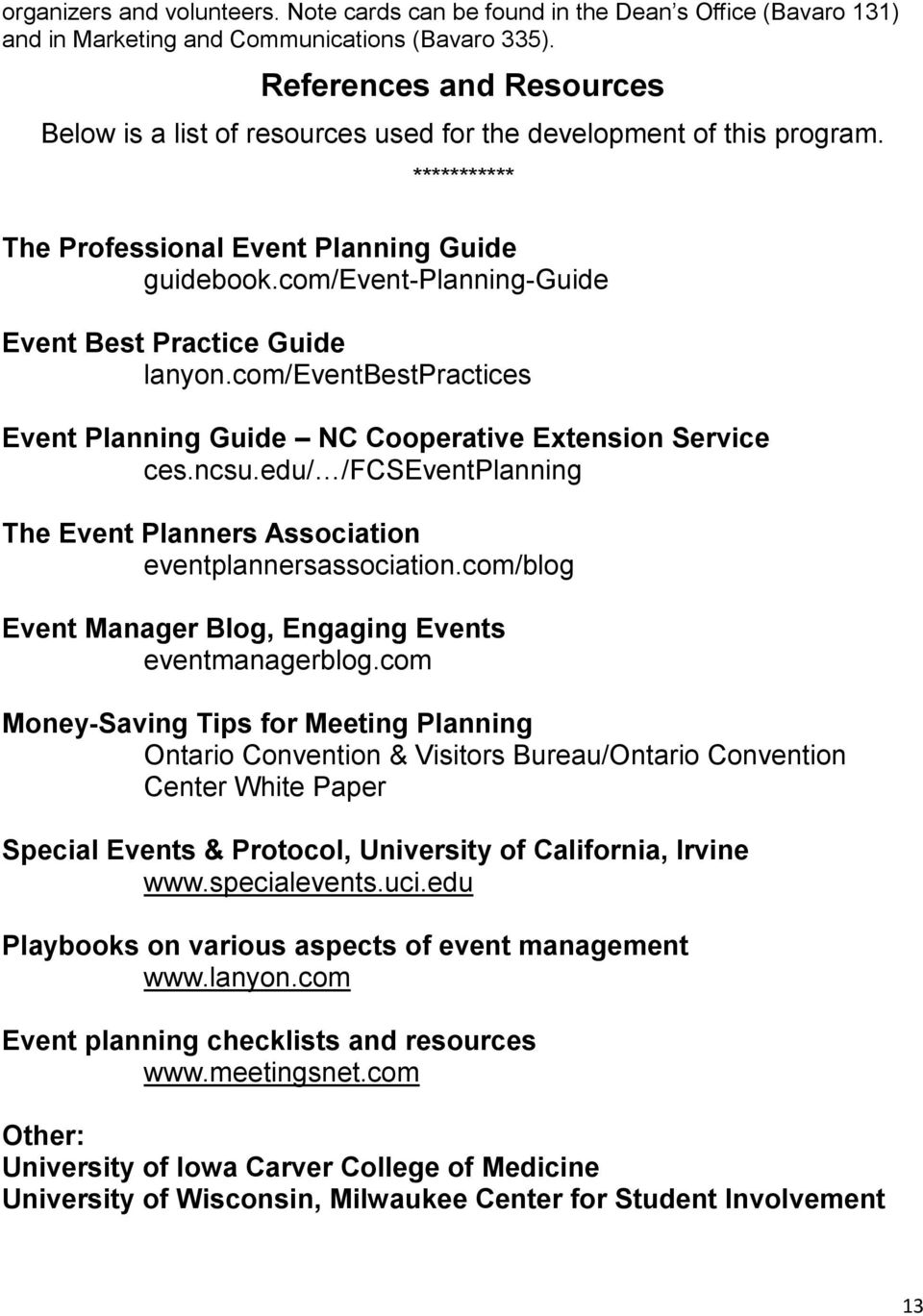 com/event-planning-guide Event Best Practice Guide lanyon.com/eventbestpractices Event Planning Guide NC Cooperative Extension Service ces.ncsu.