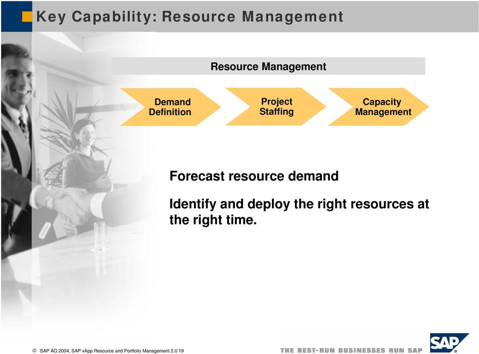 resource demand Identify and deploy the right resources at