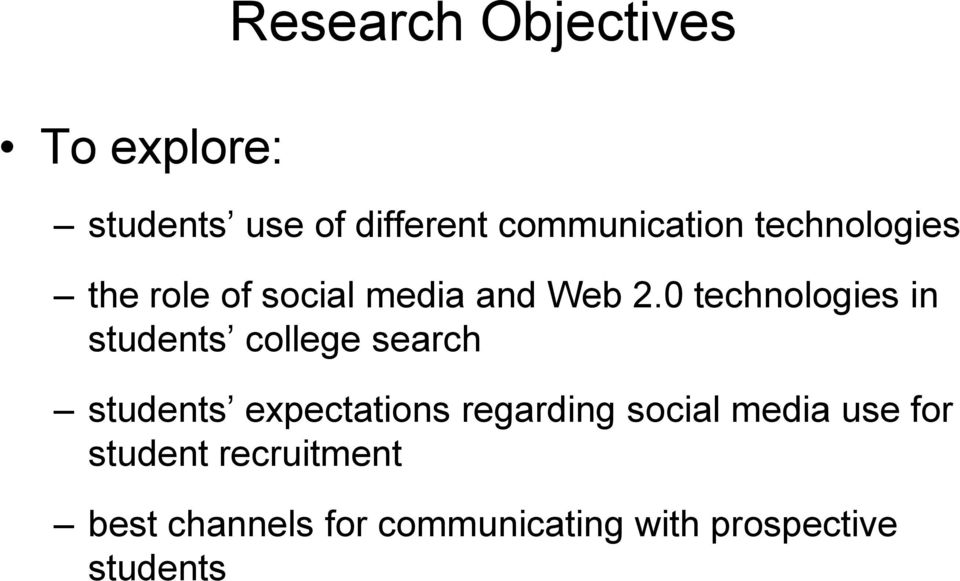 0 technologies in students college search students expectations