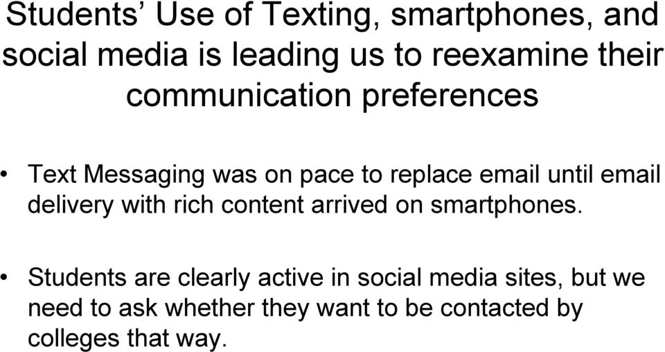 email delivery with rich content arrived on smartphones.