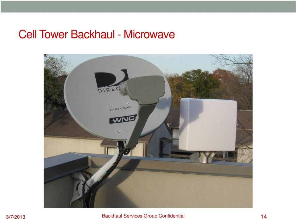 3/7/2013 Backhaul