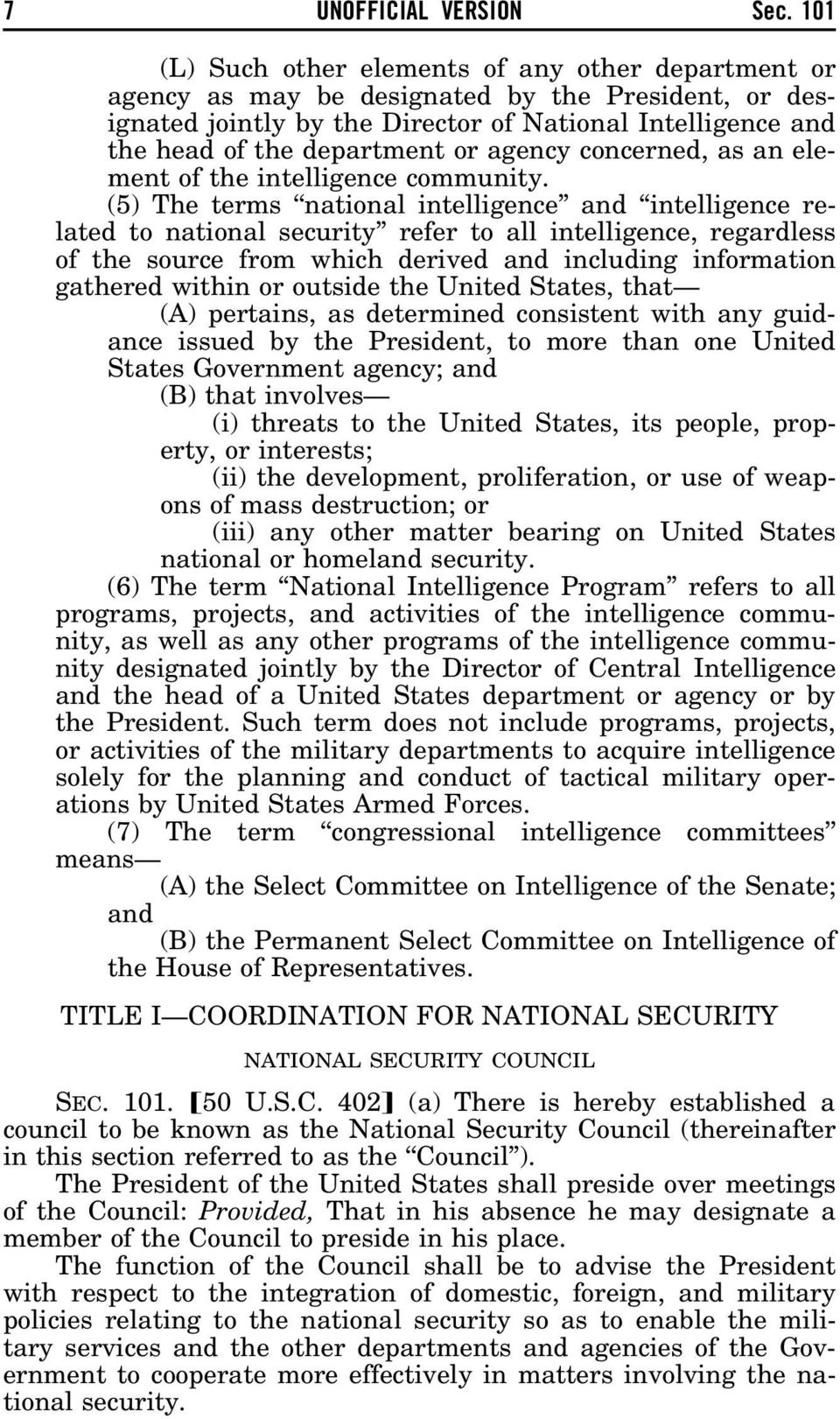 agency concerned, as an element of the intelligence community.