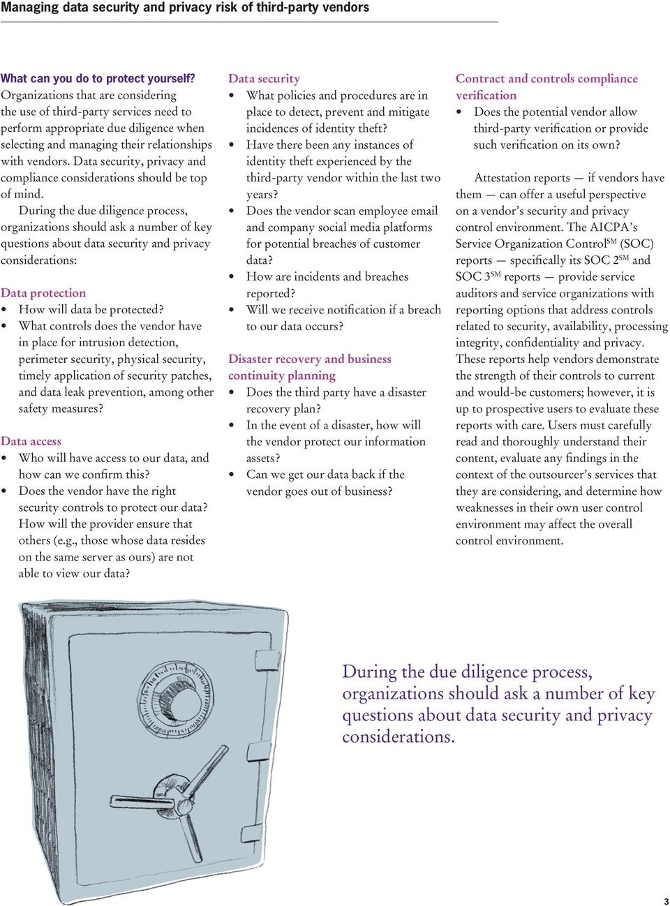 Data security, privacy and compliance considerations should be top of mind.