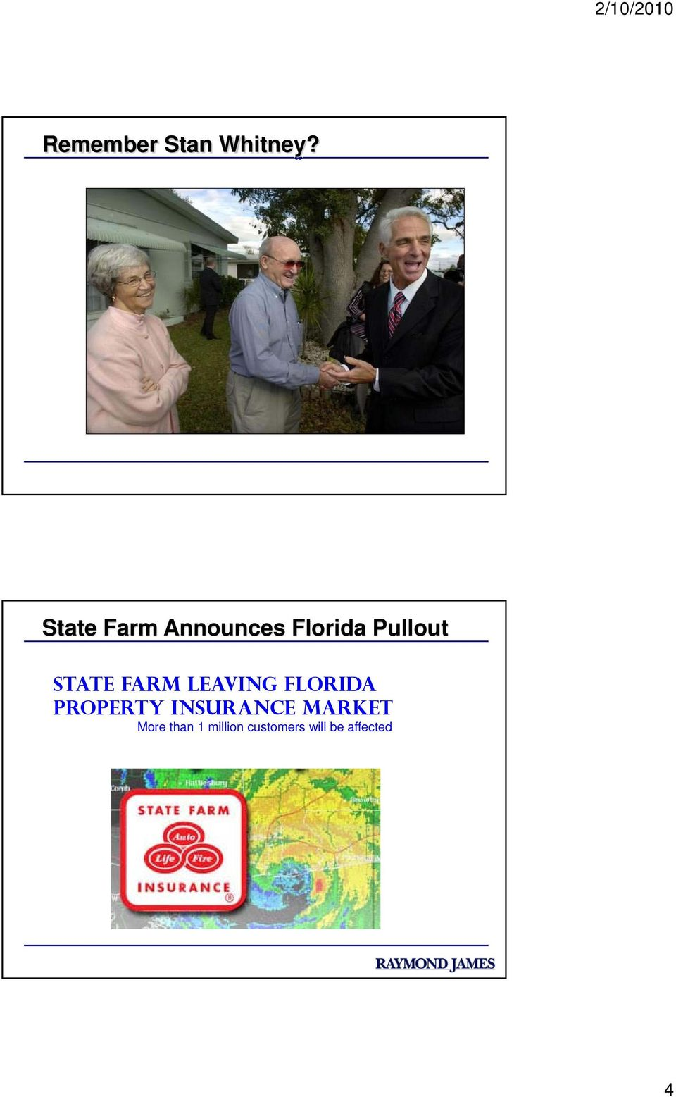 State Farm leaving Florida property