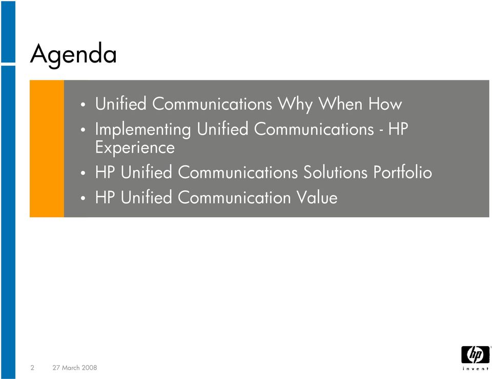 Experience HP Unified Communications Solutions