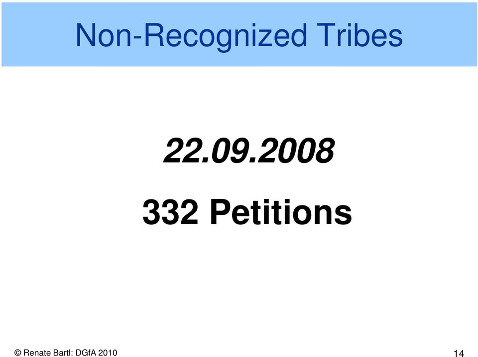 2008 332 Petitions