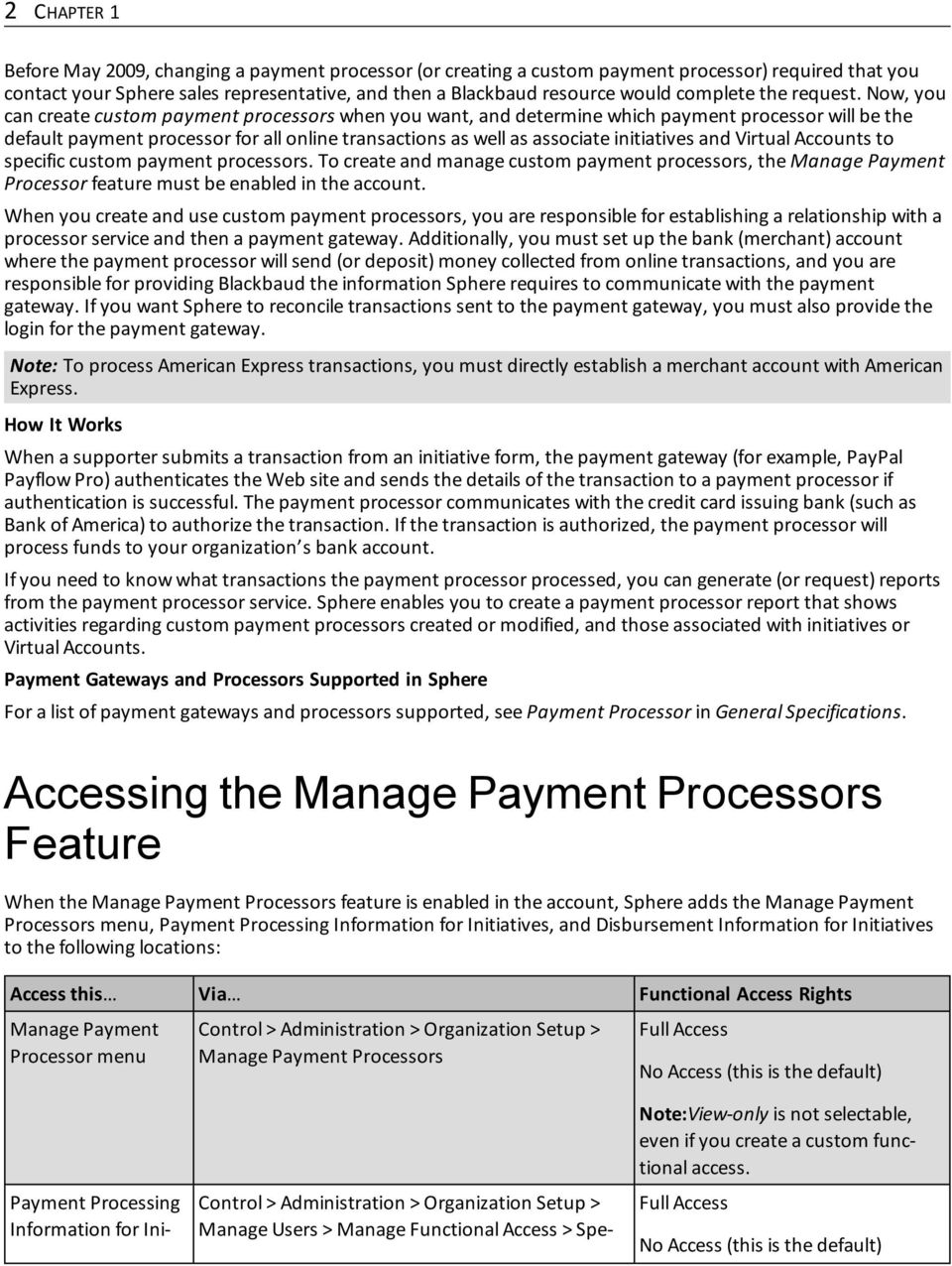 Now, you can create custom payment processors when you want, and determine which payment processor will be the default payment processor for all online transactions as well as associate initiatives