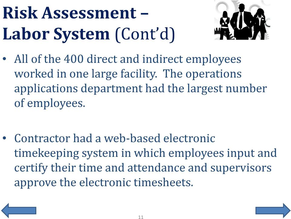 The operations applications department had the largest number of employees.