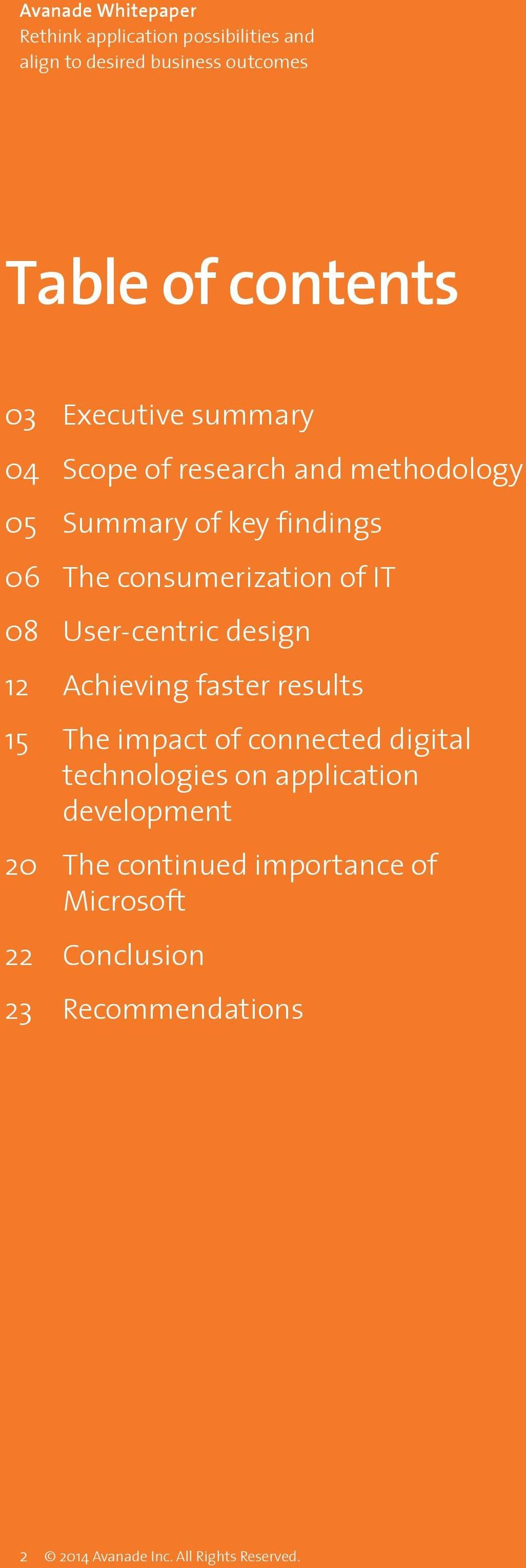 15 The impact of connected digital technologies on application development 20 The continued