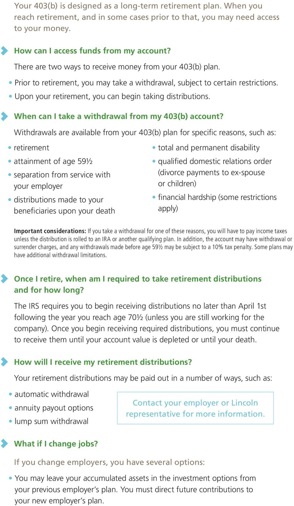 When can I take a withdrawal from my 403(b) account?