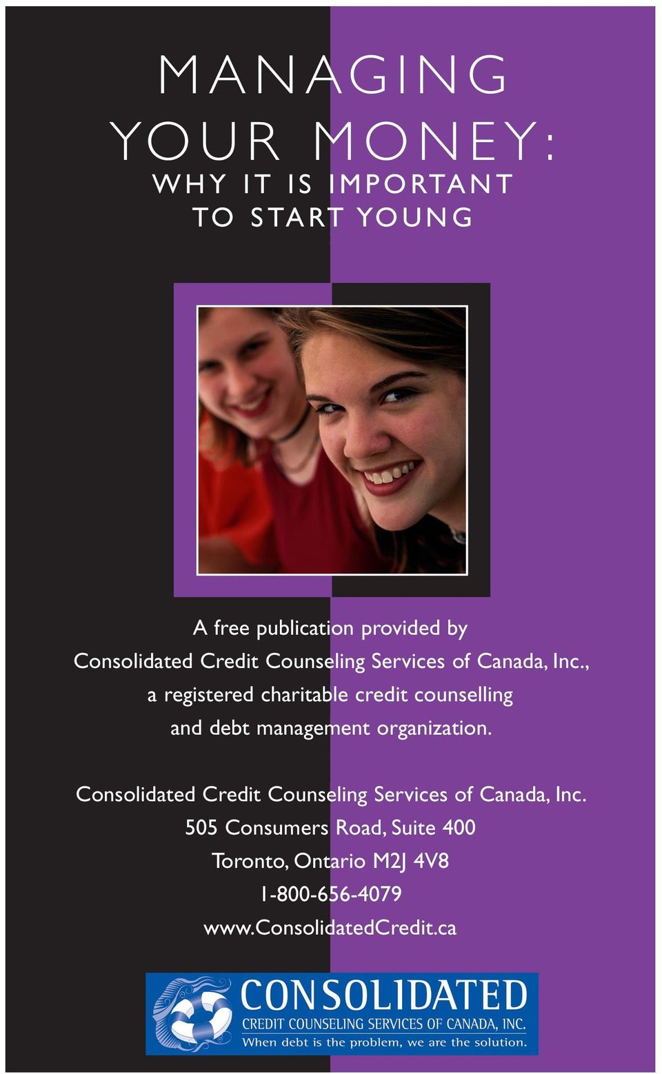Consolidated Credit Counseling Services, Inc. is an organization and debt management organization.