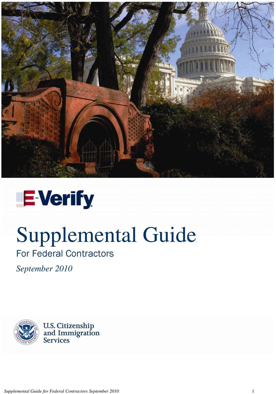 2010 Supplemental Guide for