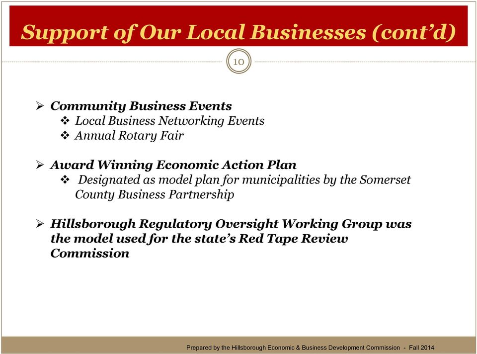 model plan for municipalities by the Somerset County Business Partnership Hillsborough