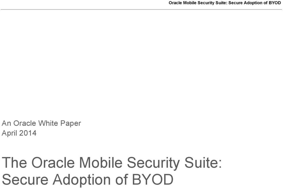 Mobile Security Suite: