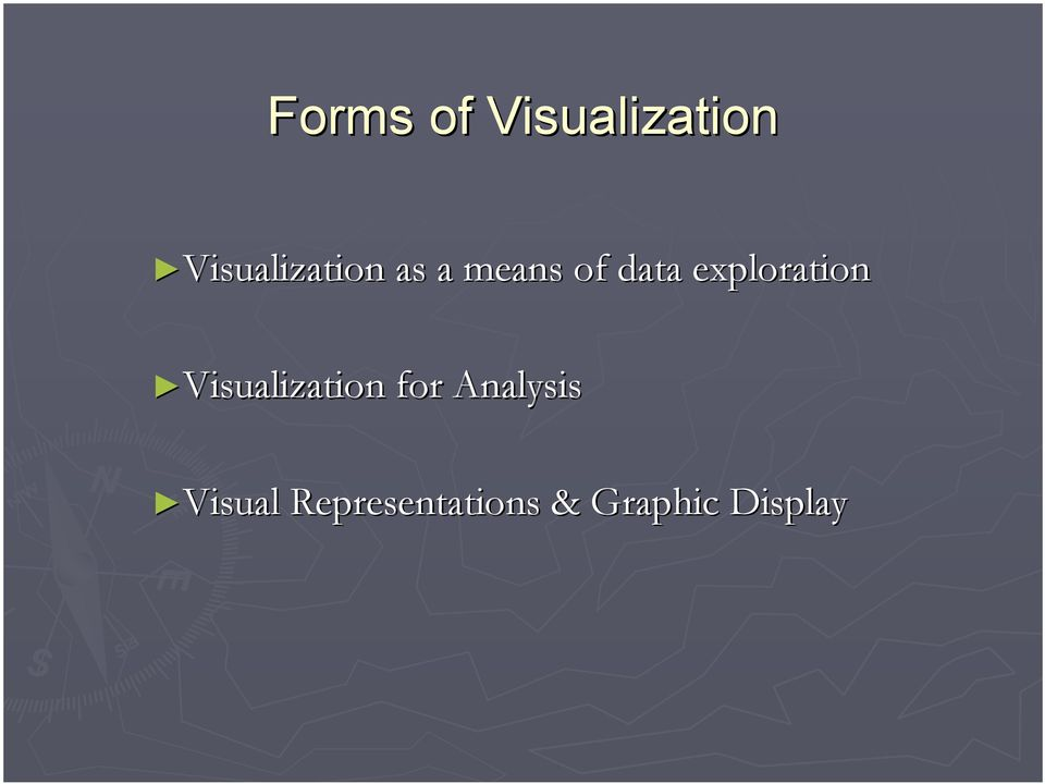 exploration Visualization for