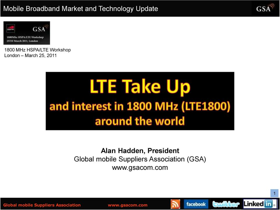 HSPA/LTE Workshop London March