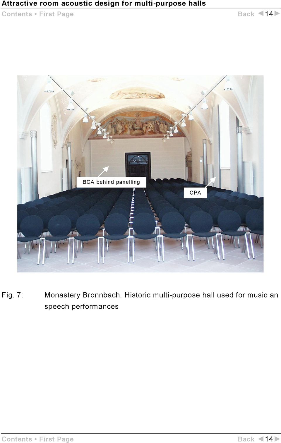 Historic multi-purpose hall used for music