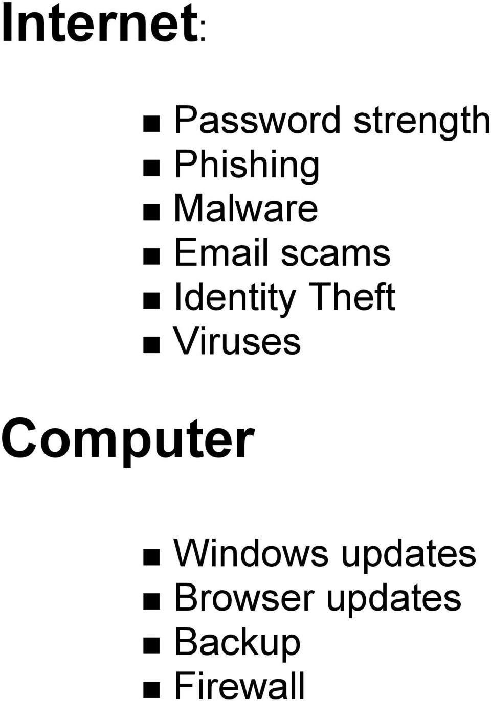 scams Identity Theft Viruses