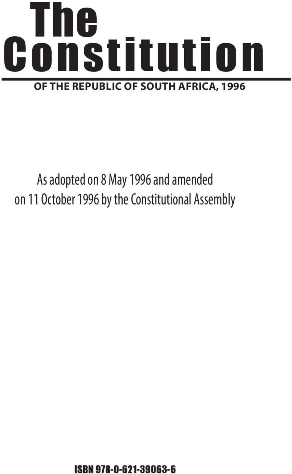1996 and amended on 11 October 1996 by