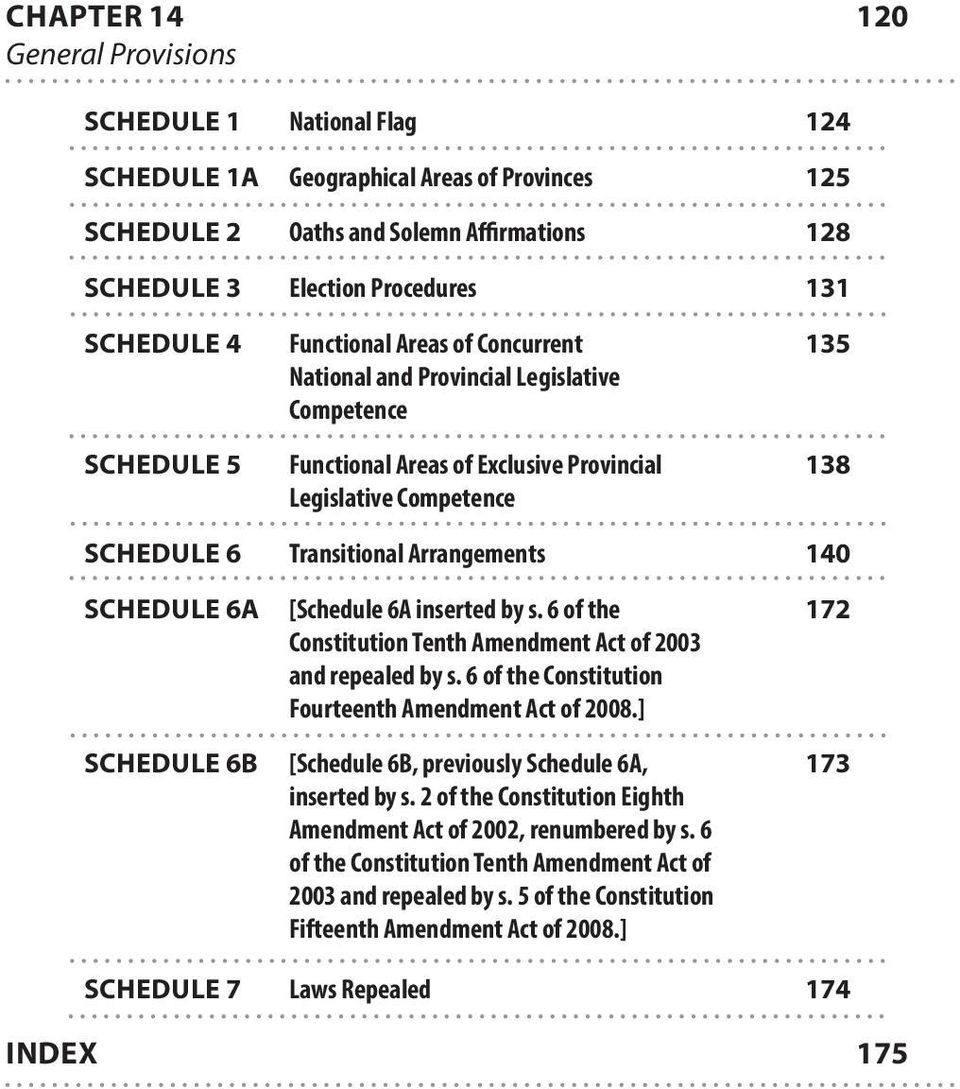 140 SCHEDULE 6A [Schedule 6A inserted by s. 6 of the 172 Constitution Tenth Amendment Act of 2003 and repealed by s. 6 of the Constitution Fourteenth Amendment Act of 2008.